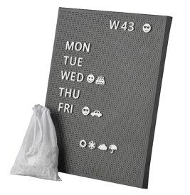 【NEW】IKEA イケアSVENSÅS スヴェンソース有孔ボード 文字付き, ダークグレー, 30x40 cm404.587.04