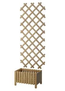 【NEW】IKEA イケアASKHOLMEN アスクホルメンフラワーボックス トレリス付き 屋外用, グレーブラウンステイン390.539.26