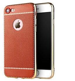 iPhone7 ケース iPhone7 Plus ケース iphone6 ケース iphone7 ケース スマホケース iphone iPhone7 ケース iPhone6 plus ケース カバー TPU&メッキ素材 レザー調デザイン メッキ シンプル カバー アイフォン アイフォン7 【thxgd_18】