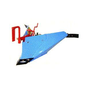 ラッキーボーイFU400用 ブルー溝浚器(尾輪付) #10891 ホンダ(HONDA)