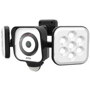 LEDセンサーライト 防犯カメラ8W×2灯 C-AC8160 (株)ムサシ コンセント式