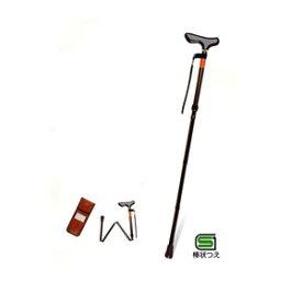 ピッチ付折りたたみ式杖 E-233 ブラウン 幸和製作所