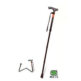 ピッチ付折りたたみ式杖 E-248 ブラウン 幸和製作所