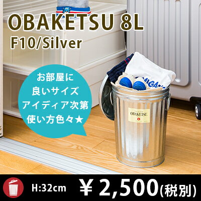 【OBAKETSU】オバケツ F10 (8Lサイズ・シルバー)
