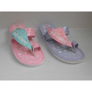 【送料無料】水濡れOK プール 海水浴 ビーチ サンダル 指付き ベンハー サンダル AB GIRLS AB6860 ピンク、パープル キッズ 女の子