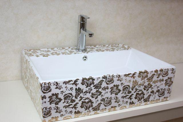 洗面ボウル(洗面ボール 手洗い鉢)+排水栓、排水Sトラップ セット おしゃれ 洗面器 洗面台 洗面化粧台 手洗い器 手洗いボウル 陶器 洗面ボウル KORS-1265B 角型