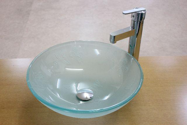 洗面ボウル(洗面ボール 手洗い鉢)+ポップアップ排水栓、排水Sトラップ セット おしゃれ 洗面器 洗面台 洗面化粧台 手洗い器 手洗いボウル ガラス 洗面ボウル KOXD-P06