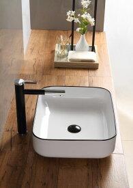 洗面ボウル(洗面ボール 手洗い鉢)+排水栓、排水Sトラップ セット おしゃれ 洗面器 洗面台 洗面化粧台 手洗い器 手洗いボウル 陶器 洗面ボウルKORS-1073BL