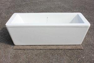 浴槽 バスタブ 浴槽 幅1690 浴槽 バスタブ 浴そう お風呂 置き型 洋式 エレガント バス 浴室露天風呂 風呂桶 アクリル製 据え置き型 浴槽 KOA312g 角型、ゴム栓タイプ