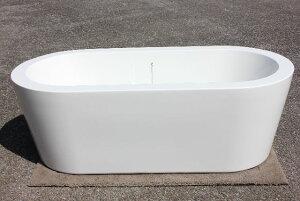 浴槽 バスタブ 浴槽 幅1680 浴槽 バスタブ 浴そう お風呂 置き型 洋式 エレガント バス 浴室 露天風呂 風呂桶 アクリル製バスタブ KOA336G、ゴム栓タイプ