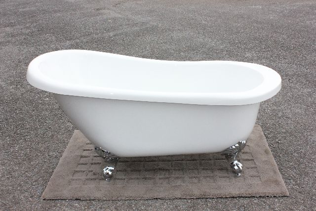 猫足バスタブ 浴槽 猫脚バスタブ 幅1570 バスタブ 浴そう お風呂 置き型 洋式 エレガント アンティーク アクリル製 猫足バスタブ KOA206-1570G ゴム栓タイプ