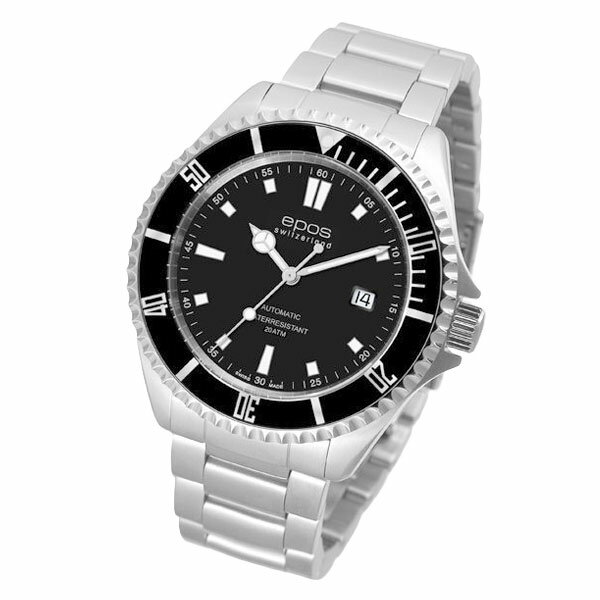 EPOS SPORTIVE エポス スポーティブ 3396SBKM 自動巻 ダイバーズ メンズ腕時計 国内正規品 送料無料 メーカー正規2年間保証付