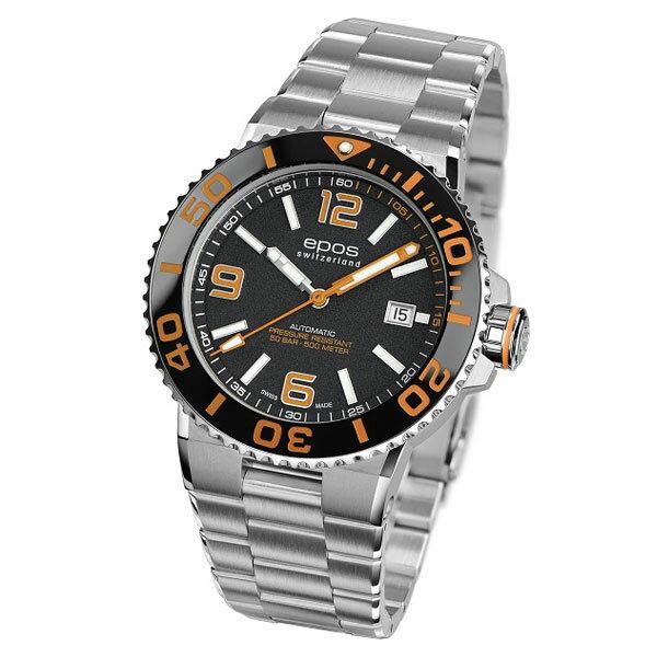 EPOS SPORTIVE エポス スポーティブ 3441ABKORM 自動巻 ダイバーズ メンズ腕時計 国内正規品 送料無料 メーカー正規2年間保証付