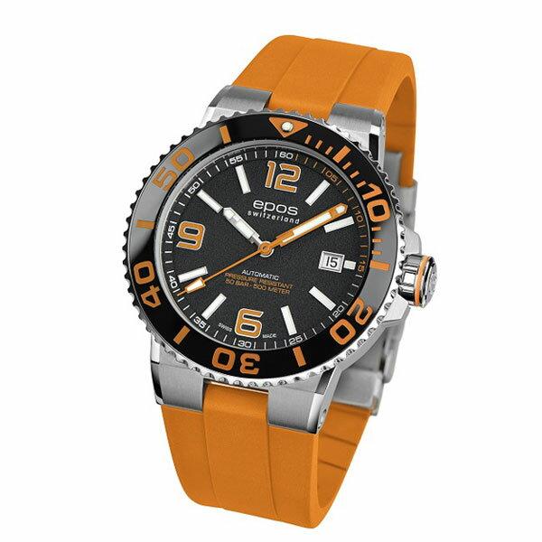 EPOS SPORTIVE エポス スポーティブ 3441ABKORORR ダイバーズ 500m防水 自動巻 機械式 メンズ腕時計 国内正規品 送料無料 メーカー正規2年間保証付