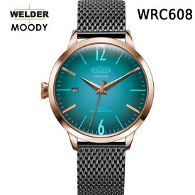 絶対目立つ腕時計【国内正規品】WELDER MOODY 3HANDS ウェルダー ムーディー WRC608 腕時計 ケースサイズ38mm メッシュバンド ローズゴールドモデル 男女兼用 送料無料 インスタ映え SNS映え おしゃれ