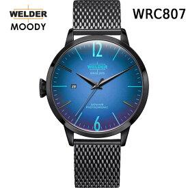 絶対目立つ腕時計【国内正規品】WELDER MOODY 3HANDS ウェルダー ムーディー WRC807 腕時計 ケースサイズ42mm メッシュバンド ブラックモデル 男女兼用 送料無料 インスタ映え SNS映え おしゃれ