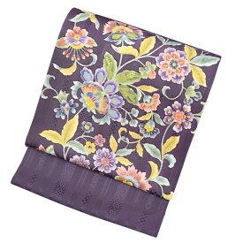 岡重染め博多織 正絹八寸名古屋帯 | 岡重×博多帯 紫 | 絹 帯