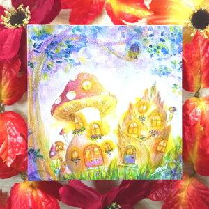 絵画 縁起画 モダン シェアハウス アートパネル アート art デジタル 14cm×14cm 一人暮らし 送料無料 インテリア アートパネル 雑貨 壁掛け 置物 おしゃれ ロココロ たけのこ タケノコ 筍 竹の子