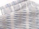 【オーダー商品】西陣織 名門 杉村織物 謹製 すくい織り 麟 九寸 名古屋帯 白×グレー 正絹 日本製 お茶席帯【帯専門…