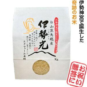 伊勢神宮で誕生した奇跡の米★伊勢光(いせひかり)5kg・玄米・無農薬米・除草剤不使用・贈答