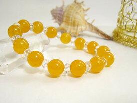 ブレスレット オレンジカルサイト 10mm玉・平珠水晶パワーストーン 天然石 レディース メンズ