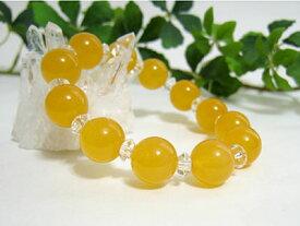 ブレスレット オレンジカルサイト12mm玉・平珠水晶 パワーストーン 天然石 レディース メンズ