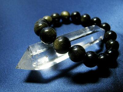 ブレスレット オブシディアン ゴールデンオブシディアン 10mm玉パワーストーン 天然石 レディース メンズ