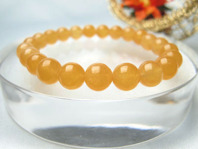 ブレスレット オレンジカルサイト 8mm玉 パワーストーン 天然石 レディース メンズ ○ten○
