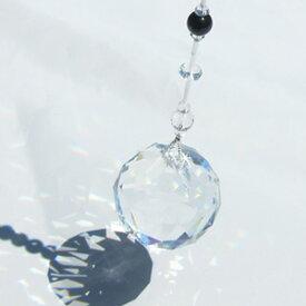 パワーストーン サンキャッチャーチャクラ 最高級クリスタルガラスクリスタルボール直径:約40mm 長さ:約51cm サンキャッチャー 風水 インテリア天然石 パワーストーン0708【ゆうパケット不可】