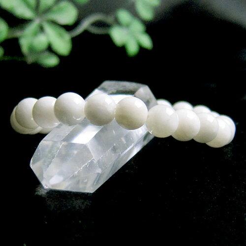 【限定入荷】 ブレスレット ペルー産ホワイトアマゾナイトAAAA 8mm パワーストーン 天然石 レディース メンズ