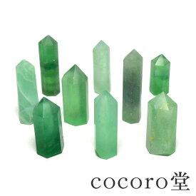 【単品販売】パワーストーン グリーンフローライト ポイント 置き物 重さ:約25〜40gレディース メンズ 勝負 恋愛 天然石