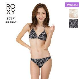 全品5%OFF券配布中 ROXY ロキシー レディース 水着 上下2点セット RSW201013 ビーチ 柄 ビキニ ホルターネック シンプル みずぎ プール スイムウェア 海水浴 女性用