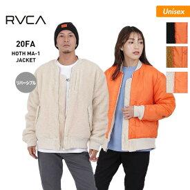 RVCA ルーカ メンズ&レディース ジャケット BA042-765 トップス リバーリブル ボア アウタージャケット MA-1 防寒 もこもこ 長袖 男性用 女性用