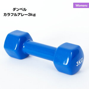 レディース ダンベル カラフルアレー 3kg NR-2020 鉄アレイ おもり ウェイト 転がりにくい 筋トレ ダイエット フィットネス トレーニング 女性用