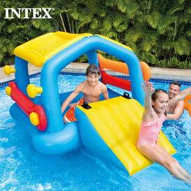 全品5%OFF券配布中 INTEX/インテックス キッズ 大人用アイランドウィズスライド 58294 スライダー付き フロート すべり台付き 浮き袋 ビーチ 海水浴 プール 2021 SUMMER ジュニア 子供用 こども用 男の子用 女の子用