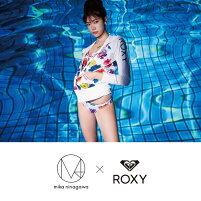 ROXY/ロキシーレディース蜷川実花コラボモデル長袖ラッシュガードTシャツRLY182002ティーシャツかぶり水着みずぎビーチ海水浴プール女性用