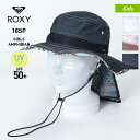 ROXY/ロキシー キッズ サーフハット 帽子 TSA181751 ぼうし UVカット UPF50+ 紫外線対策 日よけ付き サファリハット …