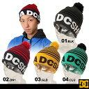 DC SHOES/ディーシーシュー メンズ ボンボン付きスノーニット帽子{53310063} ビーニー ぼうし ニットキャップ ストリート系 men's