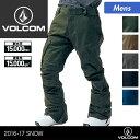 VOLCOM/ボルコム メンズ スノーボードウェア パンツ G1351709 スノーウェア スノボウェア スノボーウェア スノボウエア スノーパンツ 下 男性用