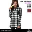 VOLCOM/ボルコム レディース 長袖 シャツ B0541405 カジュアルシャツ チェック柄 女性用 おしゃれ 人気 ブランド かわいい