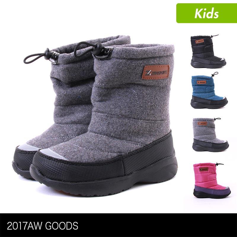 キッズ スノーブーツ 防寒ブーツ ZSJ00078 雪上ブーツ ウインターブーツ スノーシューズ ジュニア 子供用 こども用 男の子用 女の子用 ZEROSPORTS/ゼロスポーツ