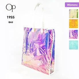OP/オーシャンパシフィック レディース ビーチバッグ 529916 オーロラ素材 プールバッグ ビニールバッグ かばん 鞄 海水浴 プール 女性用