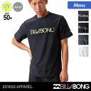 店内P10倍 BILLABONG/ビラボン メンズ 半袖 ラッシュガード Tシャツ AG011-854 紫外線カット ティーシャツ 水着 UVカット UPF50+ 海水浴 プール 男性用