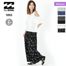 BILLABONG ビラボン レディース カットソー&ワイドパンツ2点セット AI013-370 Tシャツ ティーシャツ 女性用