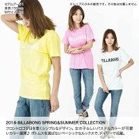 BILLABONG/ビラボンレディース半袖TシャツAI013-215ロゴ黄色イエローホワイト白ミントグリーンピンクティーシャツ女性用
