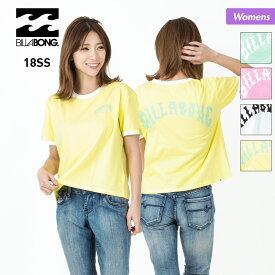 【キャッシュレス5%対象】 BILLABONG ビラボン レディース 半袖 Tシャツ AI013-216 ロゴ 黄色 イエロー ホワイト 白 ミントグリーン ピンク ティーシャツ 女性用