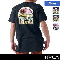 RVCA/ルーカメンズ半袖TシャツAF041-205ティーシャツカットソーUネックバックプリント男性用人気