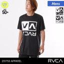 RVCA/ルーカ メンズ 半袖 ラッシュガード Tシャツ AH041-858 ティーシャツ 紫外線カット UPF50+ UVカット 水着 みず…