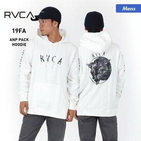 RVCA/ルーカ メンズ プルオーバー パーカー AJ042-011 長袖 フード付き ロゴ バックプリント 男性用