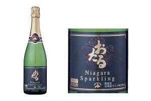 北海道・おたる『ナイヤガラスパークリング」白【甘口】720ml北海道ワイン